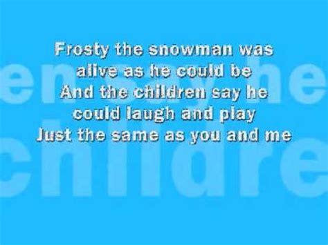 frosty snowman lyrics printable version frosty the snowman lyrics youtube