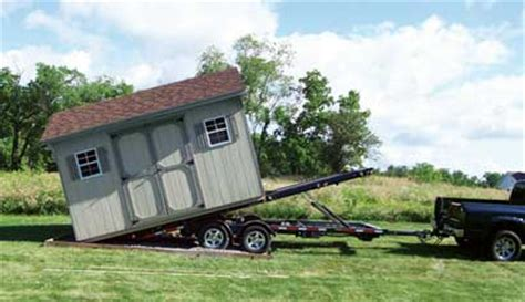 Shed Delivery Trailer by Delivery Setup By Yoder Barns Storage Mifflinburg Pa