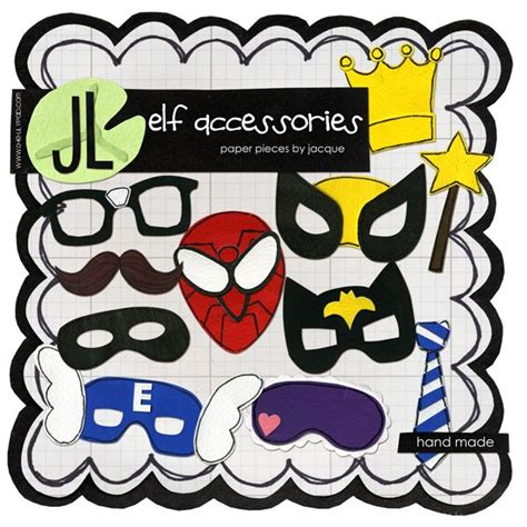 printable mask for elf on the shelf elf accessories by jacque larsen elf on the shelf