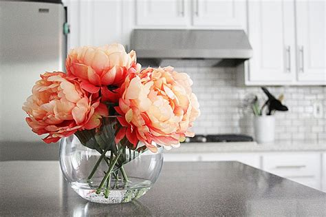 diy flower arrangements quick water faux flower arrangement diy l d h pinterest