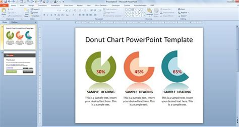 Free Donut Chart Powerpoint Template Graph Templates For Powerpoint