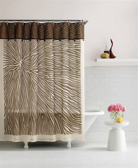 extra long brown shower curtain bathroom 84 inch shower curtain creamy and brown patterned