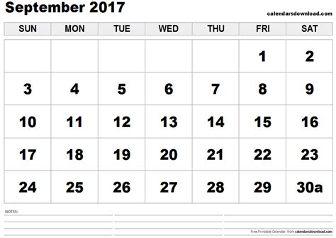 printable calendar sept oct 2017 september 2017 calendar