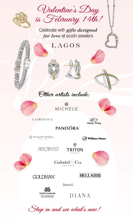 jewelers valentines day valentine s day gifts 2016 ecolin jewelers
