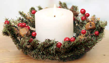 candle ring snow red berries 4 1 2 quot pine berry candle ring with bells snowflake and