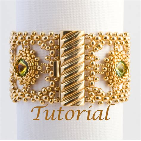 patterns for seed bead bracelets seed bead and rivoli bracelet pattern classical by
