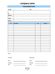 Transmittal Template by Document Transmittal Form