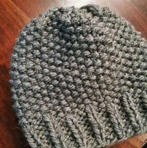 knitting seed stitch seed stitch beanie knitting