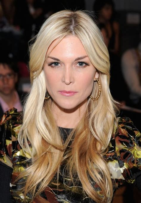 Blonde Hairstyles Middle Parting | tinsley mortimer middle parted long blonde hairstyle with