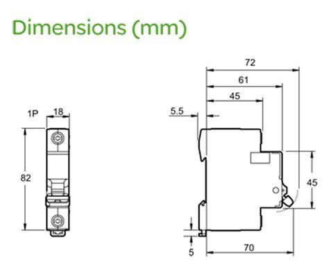 Mcb Schneider 1 Pass 50a schneider ez9f16132 easy9 1 module single pole type b