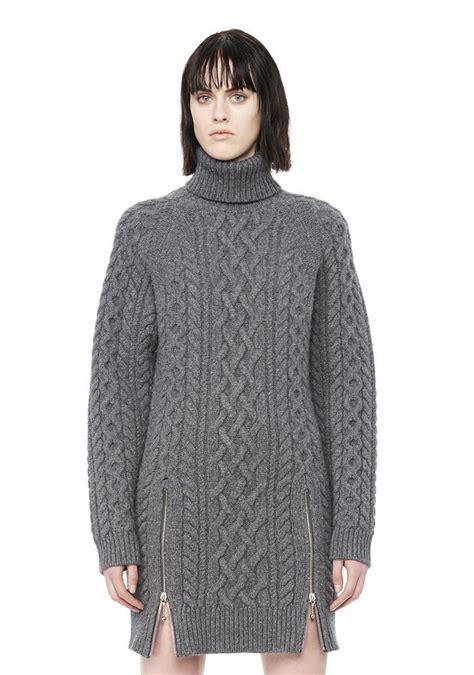 Turtleneck Cable Knit Dress cable knit turtleneck dress knit dress wang