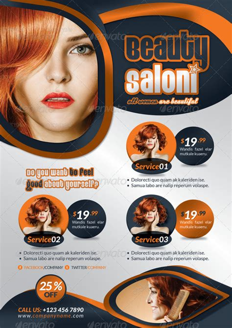 66  Beauty Salon Flyer Templates   Free PSD, EPS, AI