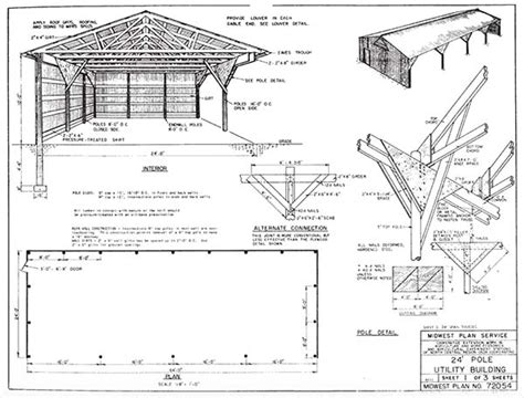 Pole Barn Building Plans by 153 Pole Barn Plans And Designs That You Can Actually Build