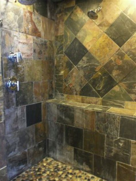 Slate Tile Bathroom Shower Slate Tile Shower Slate Interior Design