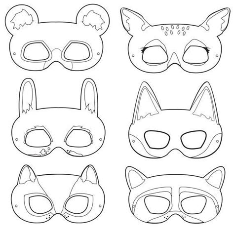 woodland animal masks template 25 best ideas about animal masks on paper