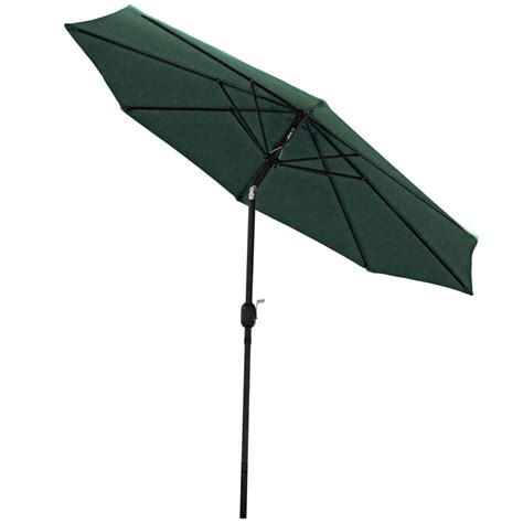 sunnydaze aluminum 9 foot patio umbrella with tilt crank