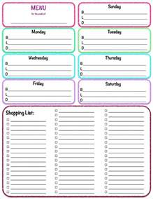 cing menu planner template free printables weekly meal planner grocery list the