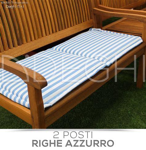 cuscini per panche legno cuscino per panca 2 posti da esterno tessuto sfoderabile