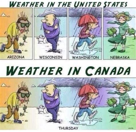 Weather: U.S. vs. Canada   Dobrador   Cartoon