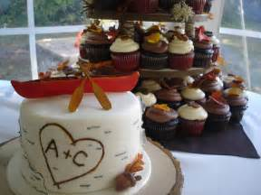 Seashell Shaped Cookies Muskoka Fall Wedding Cupcakes Cakewalk Catering