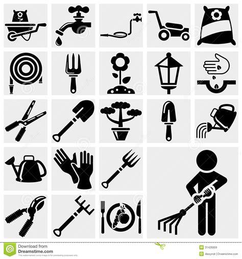 eps format till jpg gardening vector icon set royalty free stock images