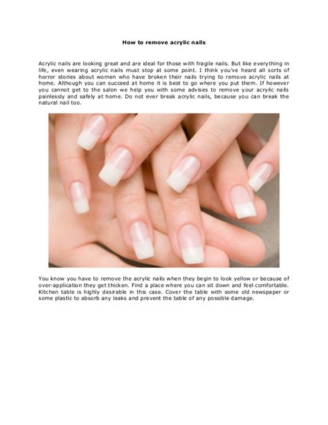 how to take acrylic nails at home how to apply acrylic
