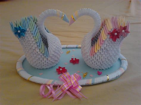 3d Origami Swan Diagram - jewellia handicrafts 3d origami wedding swans