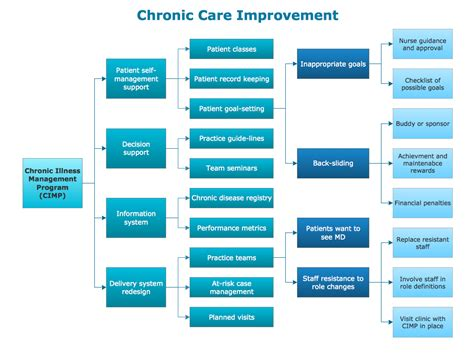 integrated care plan template conceptdraw sles seven management and planning tools