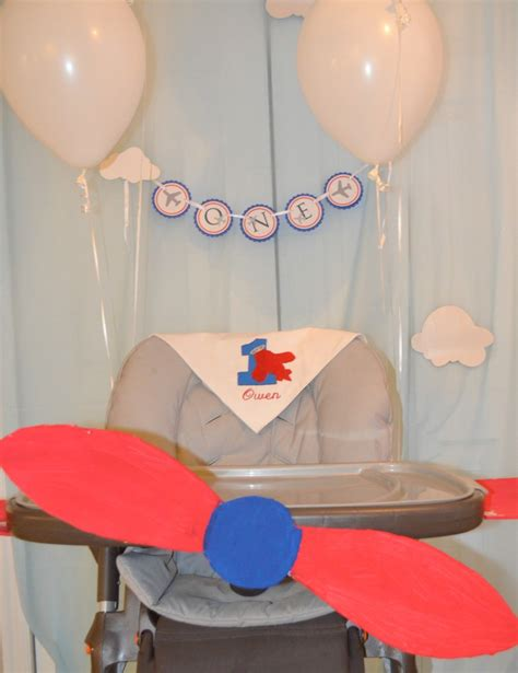 blue and airplane birthday project nursery