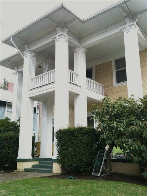 columns for homes historic home with square columns house pinterest