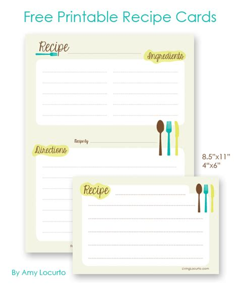 free printable picture recipes free printable recipe cards