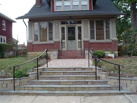 craftsman style front porch stairs craftsman style front curved railings make all the difference antietam iron works