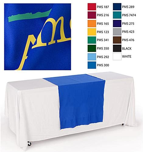 custom table runners trade show booth drapes
