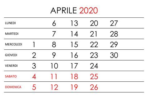 calendario aprile  calendariosu