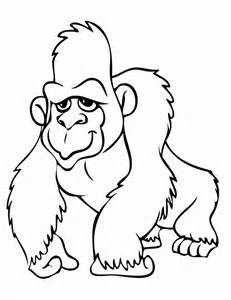 gorilla coloring page h m coloring pages