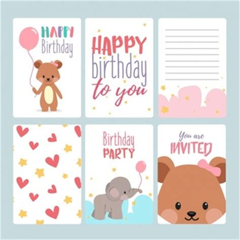 free february birthday card templates drawnhy97 freepik