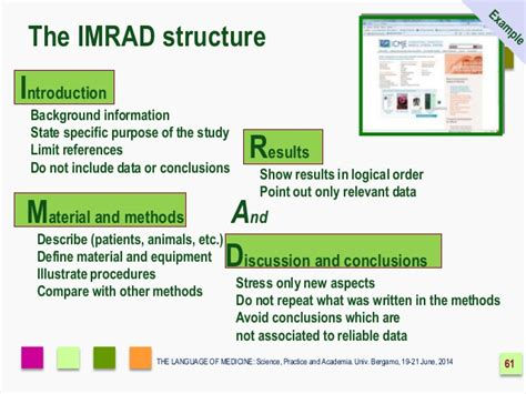 imrad format template imrad the format for scientific another way to remember