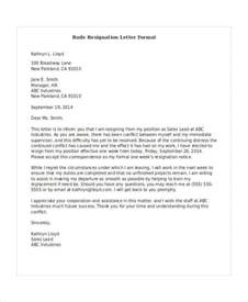 Letter Or Resignation Sle by Rude Resignation Letter Template 5 Free Word Pdf Format Free Premium Templates