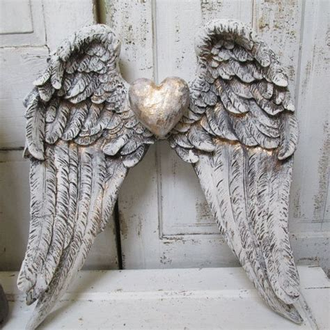 angel home decor angel wings wall decor shabby cottage white gray