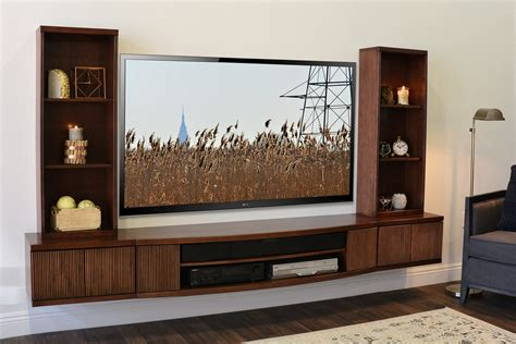 entertainment center with tv mount wall mounted floating tv stands page 2 woodwaves