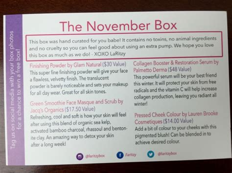 Promo November Guling Hello laritzy november 2015 subscription box review coupon hello subscription