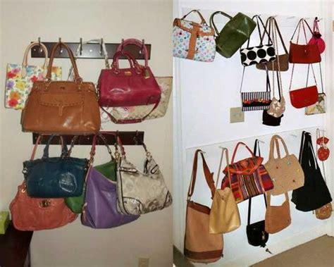 Wall Handbag Hooks 40 Handbag Storage Solutions And Residence Organizer For