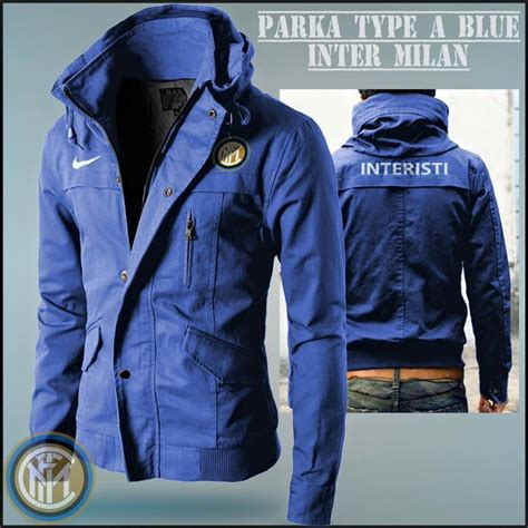 Jaket Parka Tipe A Real Madrid Black jaket distro bola parka inter milan blue type a jual