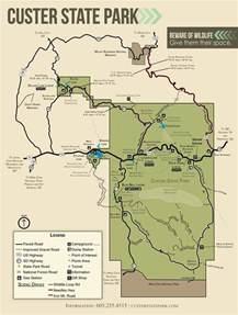 Custer State Park Map custer state park maplets
