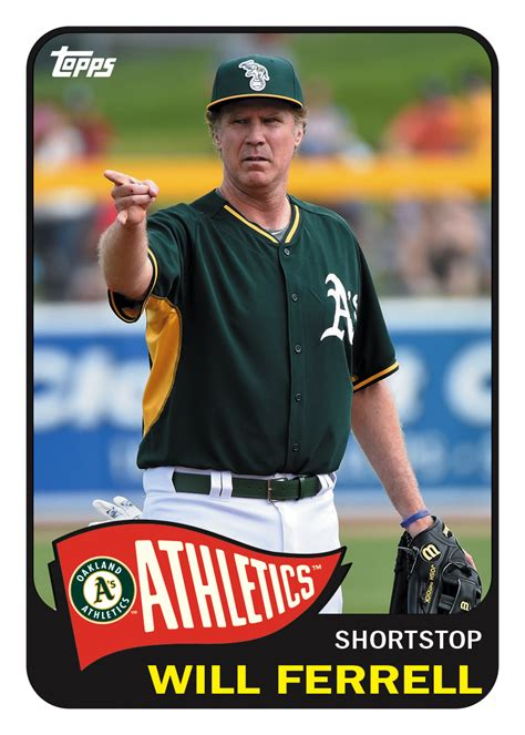 baseball cards here are all 10 topps cards commemorating will ferrell s