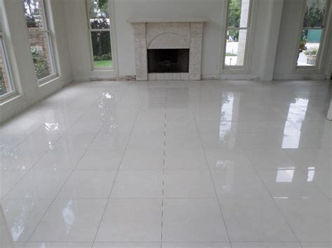 "Polished Porcelain, 24""x24"" Tile with a 1/8"" Grout Line"