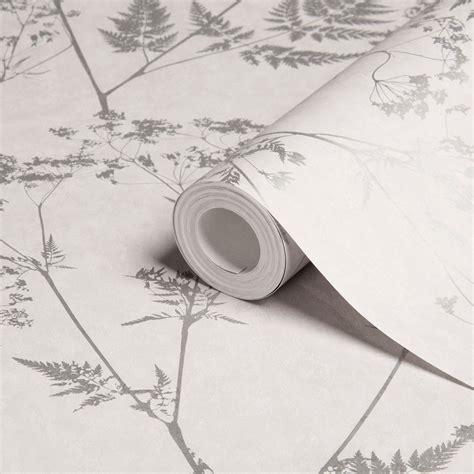diy at b q graham brown gilded fern grey leaf metallic wallpaper