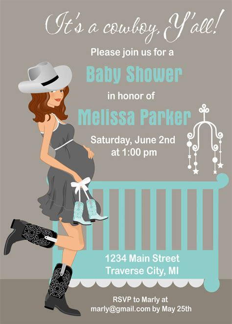 Country Baby Shower Invitations by Cowboy Baby Shower Invitations Country By Announceitfavors