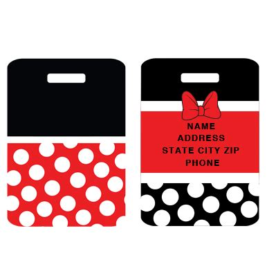 printable mickey mouse luggage tags minnie mouse bag tags ohio made graphics