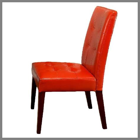 Burnt Orange Leather Dining Chairs Orange Dining Chair Whereibuyit